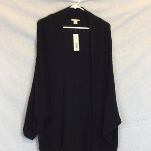 Westbound long black cardigan size L - NWT